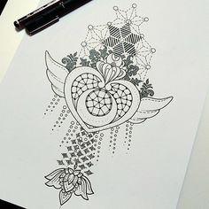 Loving this awesome Crisis Moon Compact tattoo design by artist @timothyvonsenden ✨ #SailorMoon#Cri - bishoujosenshi_sailormoon