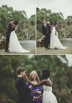 Beautiful interracial couple exchanging marriage vows in Western Australia. Haha I love this! They both look super happy. Interracial Marriage, Interracial Love, Interracial Wedding, Beaux Couples, Cute Couples, Beautiful Love, Beautiful Couple, Interacial Couples, Interacial Families