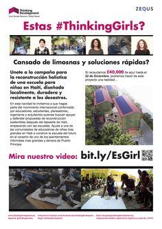 #ThinkingGirls Poster in Spanish