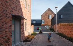 The Housing Design Awards - promoting excellence and sustainability in home design Parking Building, Arch Building, Building A House, Brick Architecture, Residential Architecture, Architecture Details, Facade Design, Exterior Design, House Design
