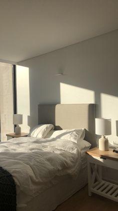 Room Ideas Bedroom, Bedroom Decor, Minimalist Room, Aesthetic Room Decor, Dream Rooms, My New Room, House Rooms, Room Inspiration, Cotton Sheets