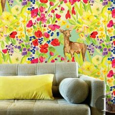 Incorporate nature into your feature wall with this Garden Deer design, From The Wilde