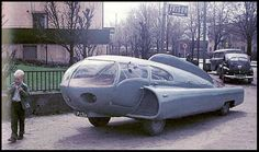 "A car named ""Future'', designed by Sigvard Berggren in 1952."