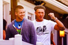 vinny and pauly d...if the jersey shore was 100% them, it would be the greatest show ever.