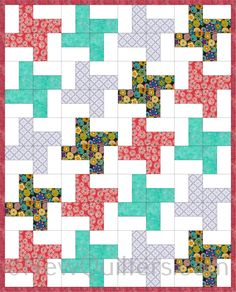 Learn how to piece the easy and versatile Windmill quilt block. Photo tutorial from NewQuilters.com. #quilting, #piecingquiltblocks, #quiltingforbeginners