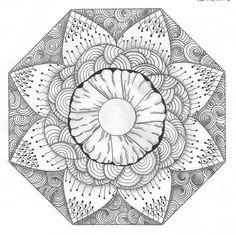 One White Whiska: Zendala Dare #34 Mandala para pintar. Mandala for painting. Mandala of coloring
