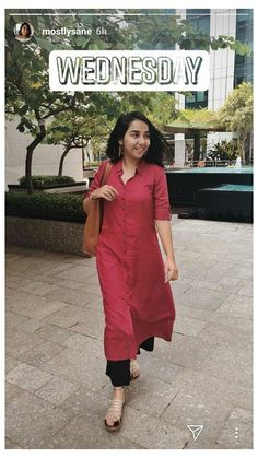 Casual Indian Fashion, Indian Fashion Dresses, Indian Designer Outfits, Office Wear Women Work Outfits, Casual College Outfits, Formal Outfits, Dress Outfits, Casual Dresses, Indian Formal Wear