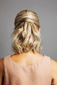 Peinado elegante para cabello mediano: aprende paso a paso cómo hacer un semi recogido con las mechas sobrepuestas