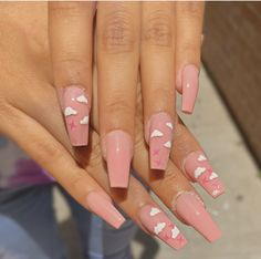 99 Beautiful Stone Nail Art Ideas To Try Asap Who doesn't love properly manicured and well-groomed nails. Ensuring you get as creative with your nails as you are with … Cute Pink Nails, Pink Nail Art, Summer Acrylic Nails, Best Acrylic Nails, Pretty Nails, Swag Nails, My Nails, Grunge Nails, Stone Nail Art