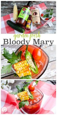 Garden Fresh Bloody Mary | This bloody mary recipe is like a meal in a cocktail…