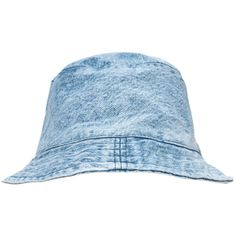 Motel Vintage Denim Bucket Hat (26 AUD) ❤ liked on Polyvore featuring accessories, hats, headwear, jean, bucket hat, fishing hat, vintage hats, vintage bucket hats and summer hats