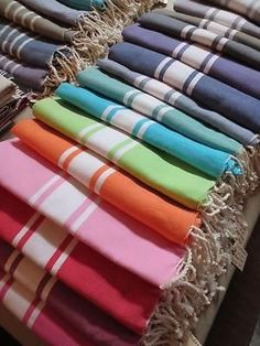 The fouta is traditionally a hammam towel and is now considered as a great holiday accessory - beach towel a bath towel a sarong a throw a tablecloth
