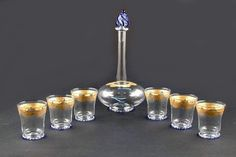 Graffitto  #Crystal gold drinkware #glass As an integral part of decorations