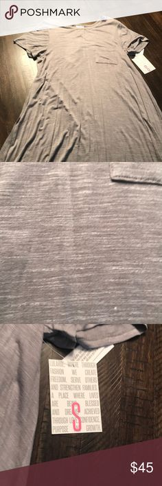 NWT Lularoe Carly Solid Gray New with tags Lularoe Carly size small. It's a solid gray with some white heathering, see picture.  Please check out my closet and bundle to save. LuLaRoe Dresses