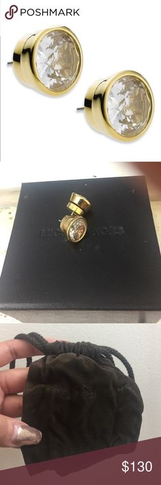 MK Women's Goldtone Crystal Stud Earrings Very Authentic. Bought from MK store. Comes with boxing and baggie. Michael Kors Jewelry Earrings