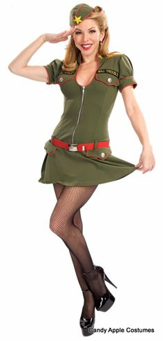 Adult Major Trouble Sexy Soldier Costume - Candy Apple Costumes - Sexy Women's Costumes