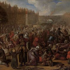 Distribution of Herring and White Bread at the Relief of Leiden, 3 October 1574, Otto van Veen, 1574 - 1629 - Rijksmuseum