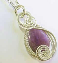 "Amethyst ""Swish"" - Sterling Silver and Amethyst - Heather Jordan Jewelry on Etsy, $40."