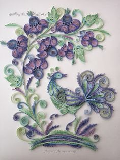 Quilling-reference number 11 - Pastel colors