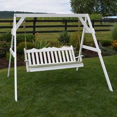 outdoor vinyl white a frame porch swing stand on ebay ski lift chair stand ideas pinterest vinyls swings and porches - Wood Porch Swing With Frame