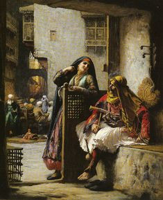 Frederick Arthur Bridgman Almeh Flirting With An Armenian Policeman in Cairo - The Largest Art reproductions Center In Our website. Low Wholesale Prices Great Pricing Quality Hand paintings for saleFrederick Arthur Bridgman Jean Leon, Arabic Art, Oil Painting Reproductions, North Africa, Oeuvre D'art, Les Oeuvres, Flirting, Art History, Art Gallery
