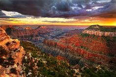 Grand Canyon National Park - my family and I went here in 2008. I remember my dad standing right on the edge to get a picture of the vast canyons