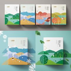 "Step Design created the beautiful graphic packaging for ""A Piece of Lovely Cake"" which is a puff pastry product. The design features aesthetically pleasing flat-style graphic illustrations of rural scenes. Each different illustration represents a specific season, allowing for a dynamic packaging solution overall.⠀  .⠀  .⠀  .⠀  #packaging #design #packagingdesign #puffpastry #flatgraphics #flatstyle #graphics #illustration #illustrations #seasons #rural #branding #brand"