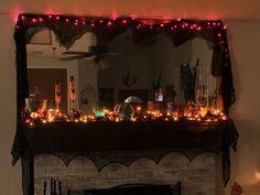 Mantle, Halloween Decorations, Home Decor, Decoration Home, Room Decor, Mantles, Home Interior Design, Cape, Cloak