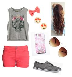 """""""Walking on the pier"""" by nat-cat-iconic ❤ liked on Polyvore featuring H&M, Vans, Free People, MANGO and Kate Spade"""