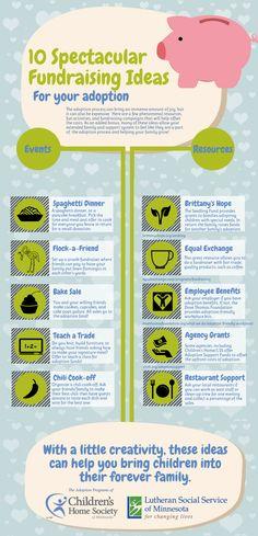 10 Spectacular #Adoption Fundraising Ideas! #Infographic