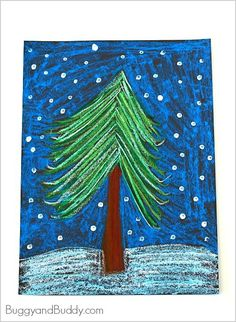 Pastel Winter Tree Art Project for Kids Winter Tree Art Project for Kids using oil pastels! ~ Winter Tree Art Project for Kids using oil pastels! Christmas Art Projects, Winter Art Projects, School Art Projects, Projects For Kids, Christmas Art For Kids, Christmas Trees, Kindergarten Art, Preschool Art, Winter Tree Drawing