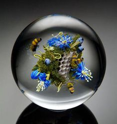 Glass Paperweight ~