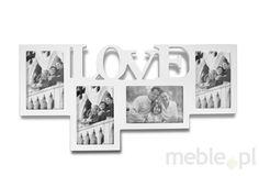 Ramka Na Zdjęcia LOVE 4w1 biała (foto 10x15 cm), M3 - Wyposażenie wnętrz
