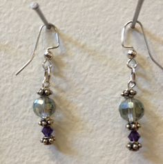 Drop earrings with glass beads