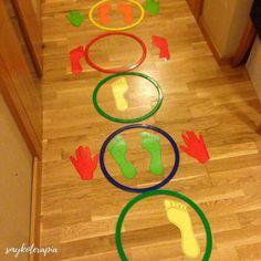 Hand and Foot Nursery Activities, Gross Motor Activities, Toddler Learning Activities, Indoor Activities For Kids, Montessori Toddler, Gross Motor Skills, Educational Activities, Preschool Activities, Crafts For Kids