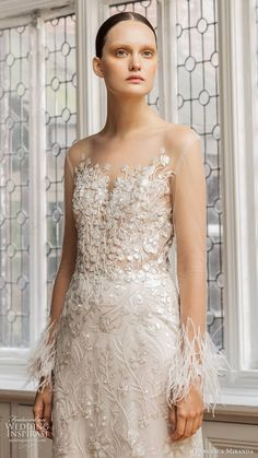 Inspired by the glamour and intrigue of a masked ball, Francesca Miranda's Spring 2020 bridal collection features details that are high on Gorgeous Wedding Dress, Beautiful Bride, Rupaul, Francesca Miranda, Bridal Dresses, Wedding Gowns, Gown Drawing, Wedding Dress With Feathers, Bridal Collection