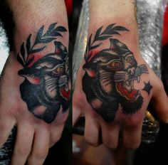 Panther Hand Tattoo By Al Boy #tattoo #tattoos #traditional #traditionaltattoo #london #londontattoo #tattooart #black #panther #animal #hot #for #guys #girls #women #trendy #popular #traditional #classic #classy #cloak #and #dagger #studio #cloakanddagger