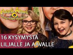 Onneli, Anneli ja Salaperäinen muukalainen -elokuvan Lilja Lehto ja Aava Merikanto vastasivat 16 kysymykseen