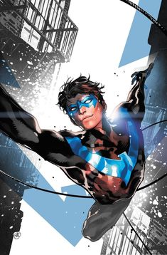 As the first Robin, Dick Grayson was the most famous sidekick in comic book history. As he ventured forth on his own, he formed the Teen Titans and became their leader. When the boy became a man, he became the independent hero known as Nightwing. Marvel Comics, Heros Comics, Arte Dc Comics, Dc Heroes, Rogue Comics, Heroes Wiki, Marvel Dc, Gotham City, Birds Of Prey