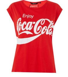 red&white.quenalbertini: Teens Red Coca Cola T-Shirt
