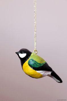 DIY Clay Bird Ornaments