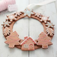 large gingerbread christmas wreath by honeywell bakes | notonthehighstreet.com