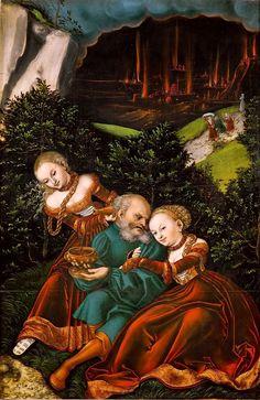 Lucas Cranach d. Ä. 082 - Lot y sus hijas -