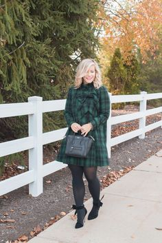 97b7cb2a98c Perfect Plaid Dress - Afternoon Espresso Blog Holiday Party Dresses