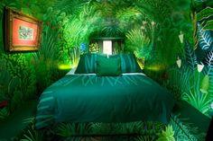totalnie zielona sypialnia