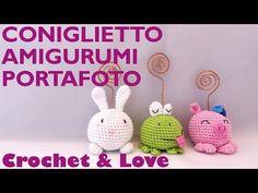 Tutorial coniglietto amigurumi portafoto (video 2 di 3) - YouTube