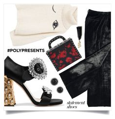"""""""#PolyPresents: Statement Shoes"""" by anduu19 on Polyvore featuring Miu Miu, MANGO, Bertoni, LE VIAN, Lanvin, contestentry and polyPresents"""