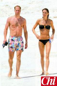 The Duke and Duchess of Cambridge on their honeymoon.