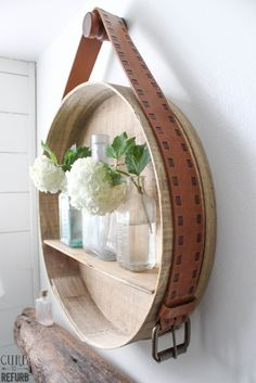How to turn a cheese box into a beautiful shelf - CURB TO REFURB