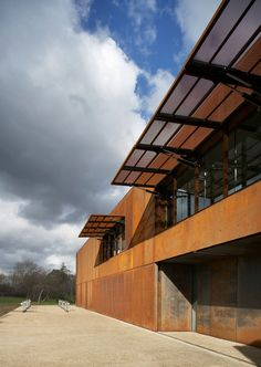 Hackney Marshes Centre - Steel Awnings